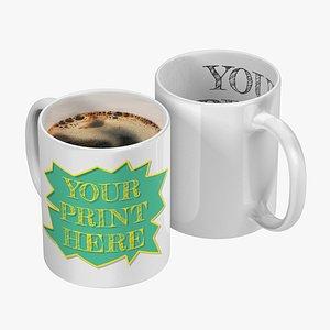 realistic coffee mug 4k 3D