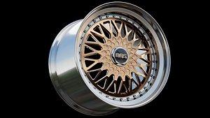 3D BBS RS Gold - Diamond Cut - Rim model