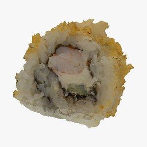 philadelphia shrimp tempura sushi 3D model