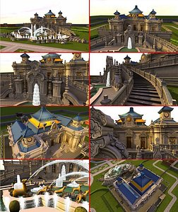3D Old Summer Palace The Summer Palace yuanmingyuan Places of historic interest  china model