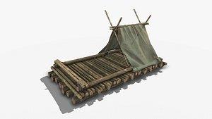 3D Wooden Raft 1