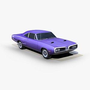 dodge coronet superbee 1970 3D model