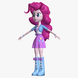 Human Pinkie Pie EG Character 8K 3D model