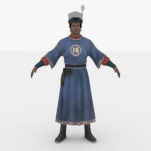 3D model Bu Kuai Rigged