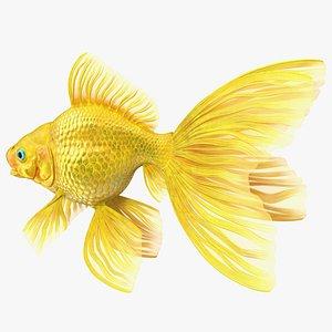 3D Goldfish Rigged for Modo model