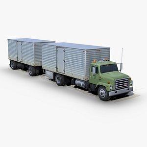International 1754 Box truck trailer model