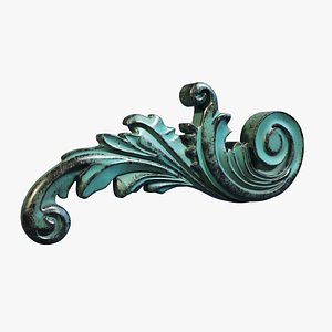 3D Ornamental Scroll