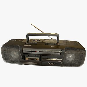 3D double cassette stereo