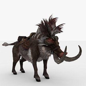 Giant Forest Pig Rigged and Animated 3D