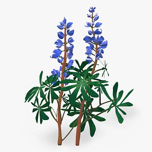 3D realistic sundial lupine