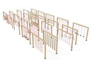 3D Wooden playground collection