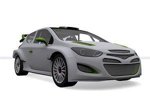 3D rally car v2 model