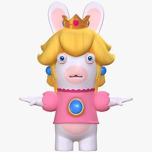 Rabbid Peach  Super Mario Sparks of Hope 8K 3D model