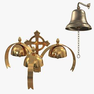 bells golden liturgical 3D model