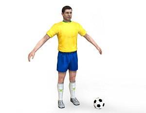 brasil soccer player 3D