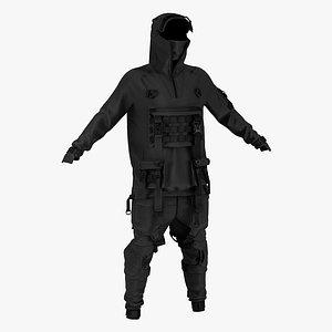 cyberpunk outfit male 3D model