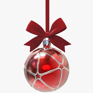 3D model christmas ball bow