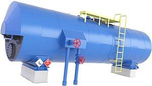 tank oil storage 3D model