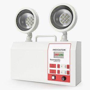 Rechargeable Twin LED Emergency Lamp 3D Model 3D model