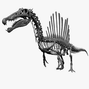 3D Spinosaurus Full Skeleton Sculpt Model model