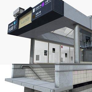 subway entrance 3d model
