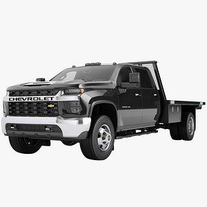 3D Chevrolet Silverado 3500 HD 2021 Flatbed Dump Truck 07 model