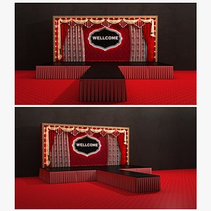 Stage Curtain Theater 3D model