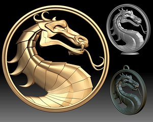 3D model Mortal Kombat Sign Logo 3D printable