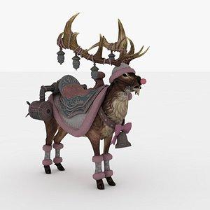 Santa Deer Rigged 3D model