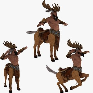 3D Centaur Rigged and Animated model