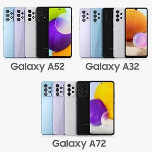 samsung galaxy a72 3D model