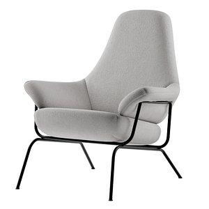 3D model hai lounge chair seat