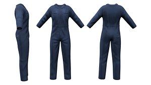 3D model Men's Multiprofession Work Jumpsuit Uniform