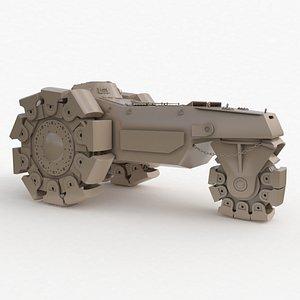 Alkett VsKfz 617 Minenrumer Clay Vray 3D model