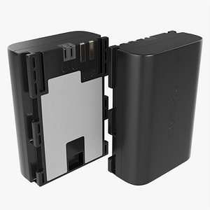 Canon LP-E6N lithium-Ion battery 3D