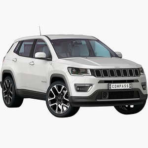 3D model realistic jeep compass 2020