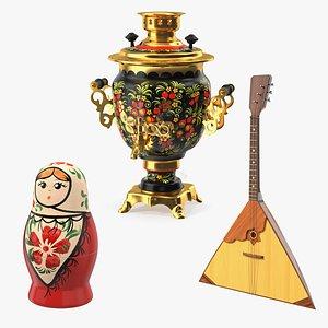 russian traditional symbols 2 model