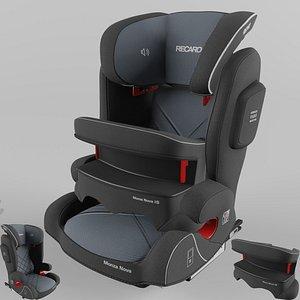 3D Recaro Monza Nova IS Children Car Seat Core Carbon Black