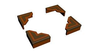 3D model frame corner
