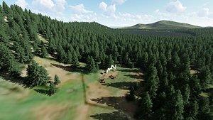 3D laurel lake california landscapes