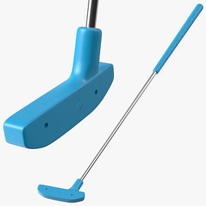 3D model Mini Golf Putter Blue