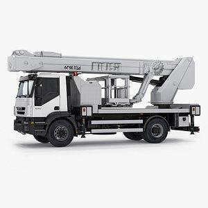 3d model truck aerial platform