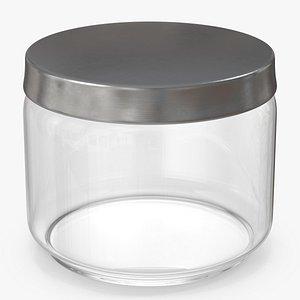 3D model glass jar metal lid