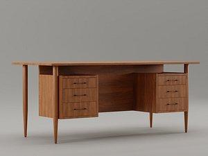 3D office vintage desk
