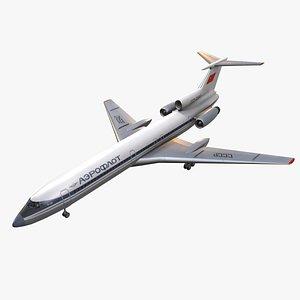 3D model Tupolev Tu-154 USSR Animated