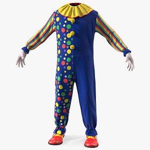 3D Carnival Clown Costume model