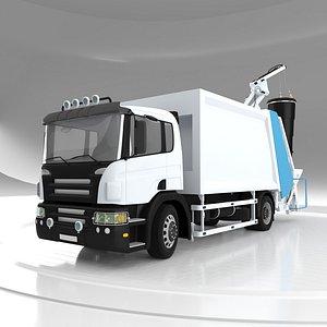 Garbage Truck Rear Crane model
