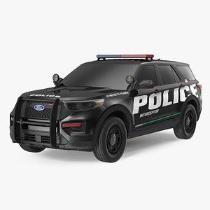 3D Ford Police Interceptor Exterior Only