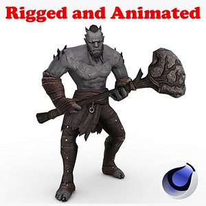 Dark Giant demon Rigged and Animated 3D