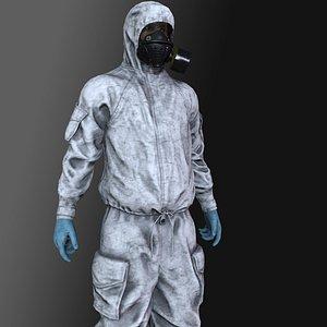 3D model character suit